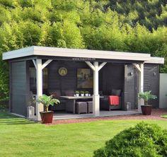 Lugarde Gartenhaus Levi GS46u mit Flachdach. Moderner Stil und viel Platz. Lugarde bietet Top Qualität zu fairen Preisen. Jetzt Ihr Gartenhaus finden!