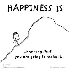 Happiness is reaching your goals ..