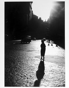 Woman's silhouette and shadow, 1950s  © Jay Maisel
