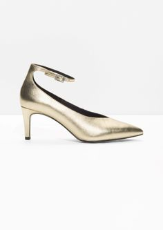 & Other Stories | Gold Ankle Strap Pumps