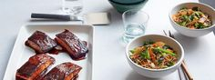 Gordon Ramsay's Teriyaki Salmon (Served over rice noodles, peas, broccoli, etc) Salmon Recipes, Fish Recipes, Seafood Recipes, Asian Recipes, Dinner Recipes, Healthy Recipes, Fish Dishes, Seafood Dishes, Fish And Seafood