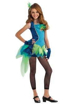 Teens Peacock Diva Costume Age 12-14 Years