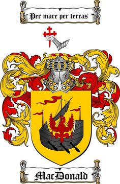 MACDONALD FAMILY CREST - COAT OF ARMS gifts at www.4crests.com