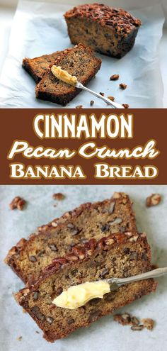 This is no ordinary Banana Bread recipe. This one has a nutty caramelized brown sugar and cinnamon topping with a perfect quick bread density. Not too sweet it makes for a satisfying banana filled bite with a bit of crunch. No Bake Desserts, Just Desserts, Delicious Desserts, Spring Desserts, Banana Bread Recipes, Cake Recipes, Dessert Recipes, Nutty Bread Recipe, Cinnamon Pecans