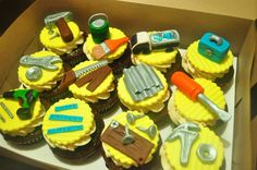 Hardware and Construction Themed cupcake set by Flibby's
