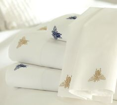 Bee Sheets    http://www.potterybarn.com/products/bee-embroidered-sheet-set/