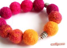 needle felted beads make for super sweet jewellery for kids