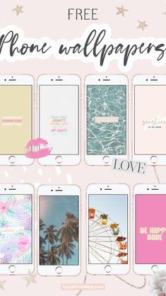 Pastel Iphone Wallpaper, Free Phone Wallpaper, Summer Wallpaper, Wallpaper Iphone Disney, Aesthetic Iphone Wallpaper, Screen Wallpaper, Aesthetic Wallpapers, Wallpaper Quotes, Wallpaper Backgrounds