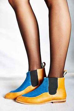 Osborn Indigo Leather Chelsea Boot - Urban Outfitters
