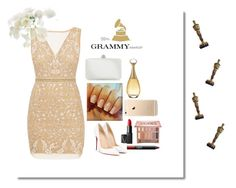 """Grammys outfit ft mili-sifón"" by deliverydelibros ❤ liked on Polyvore featuring Nicole Miller, Christian Dior, Christian Louboutin, NARS Cosmetics and Urban Decay"