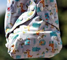 """Animal Cookie"" OS Supreme Pocket Visit my FB page, ""Hip Huggers Cloth Diapers- Brandon, MB"" to order"