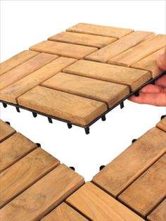 BuildDirect U2013 Teak Interlocking Wood Deck Tiles U2013 Parquet   Select   Outdoor  View