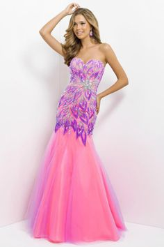 $239.99 2017 Charming Colored Prom Dress Mermaid/Trumpet Beadedwork Sweetheart Full Length Organza online In Canada Prom Dress Prices NPD-11667 - ca-bridalss.com