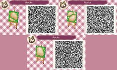 Cute QR Codes Mossy Spaced out Brick path  Rocks/ Stepping stones Set#5  Last One<----
