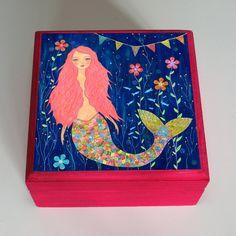 Pink Mermaid Jewelry Box. $22.99, via Etsy.