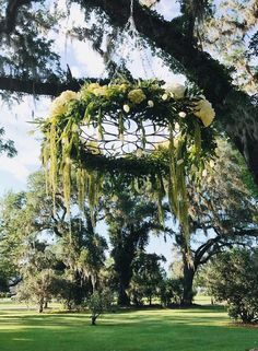 Outdoor Wedding Ceremony at Southwood House in Tallahassee, Florida by Over the Moon Events & Rentals Inc., Orlando, FL