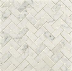 Classic herringbone marble mosaic