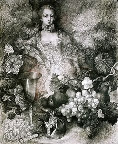 Марина Рихтерова.Графика, часть 1. Madame Pompadour