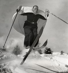 Ski-Sailing, St. Moritz, Switzerland by  Unknown Artist