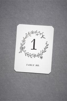 Hollyhock Table Cards (1-15/16-20) in Décor View All Décor at BHLDN