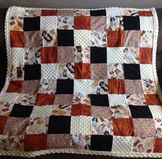 Large Dog Themed Lap Quilt - Boston Terrier Quilt - Bulldog Quilt - Dachshund Quilt - Yellow lab Quilt - Spaniel Quilt