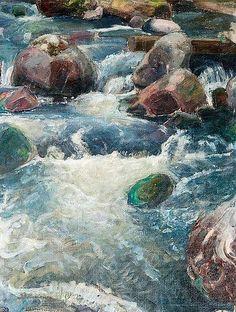 Pekka Halonen, Kivikoski, 1923, The Life and Art of Pekka Halonen - from http://www.alternativefinland.com/art-pekka-halonen/