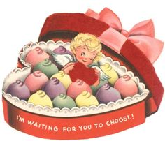 Angel Cupid in Heart Shaped Valentine Candy Box Vintage Unused Valentine Card My Funny Valentine, Valentines Greetings, Vintage Valentine Cards, Vintage Greeting Cards, Vintage Holiday, Valentine Day Cards, Valentine Crafts, Vintage Postcards, Happy Valentines Day