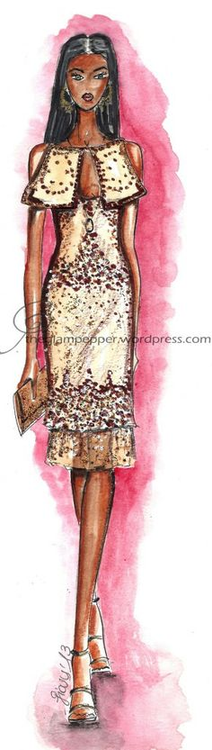 Fashion illustration by The Glam Pepper #fashion #illustration #sketches