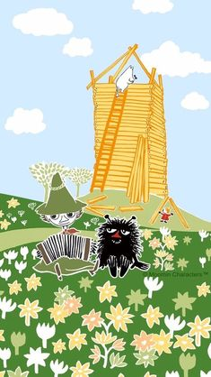 Moomin Wallpaper, Cartoon Wallpaper, Wallpaper Backgrounds, Iphone Wallpaper, Moomin Valley, Tove Jansson, Kids Lighting, Studio Ghibli, Cute Art