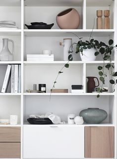 T.D.C: BoConcept Copenhagen wall system, great example of compartment shelf styling
