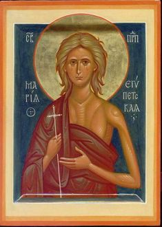 Mary of Egypt. So proud to be Egyptian and belong to the Orthodox Coptic (Egyptian) Church 💖💖💖 Religious Images, Religious Icons, Religious Art, St Mary Of Egypt, Holly Pictures, Roman Church, Saints And Sinners, Russian Icons, Best Icons