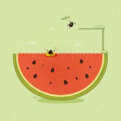 Find images and videos about funny and watermelon on We Heart It - the app to get lost in what you love. Funny Iphone Wallpaper, Cute Wallpaper Backgrounds, Funny Wallpapers, Cartoon Wallpaper, Cute Puns, Cute Memes, Funny Puns, Funny Drawings, Kawaii Drawings