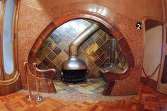 Gaudi fireplace