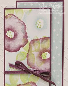 Play up the texture with embossing paste backgrounds!  Stampin' Up!, card, paper, craft, scrapbook, rubber stamp, hobby, how to, DIY, handmade, Live with Lisa, Lisa's Stamp Studio, Lisa Curcio, www.lisasstampstudio.com