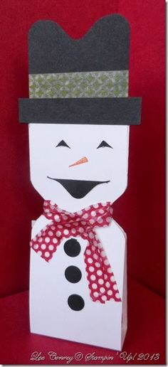 Envelope Punch Board Snowman