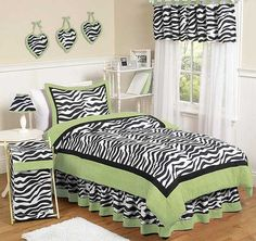 Give your little fashionista the room of her dreams with this fabulous zebra print bedding set from Sweet Jojo Designs. Bold colors and a lightweight, cozy comforter complete the look of this fashion-forward bedding set. Purple Bedding Sets, Girls Bedding Sets, Twin Comforter Sets, Teen Bedding, Queen Comforter Sets, Girls Bedroom, Bedroom Decor, Bedroom Ideas, Turquoise Bedding