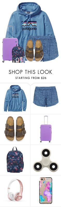 """""""flyinggg ✈️(d)"""" by mmadss ❤ liked on Polyvore featuring Patagonia, NIKE, Birkenstock, Lojel, Beats by Dr. Dre, Casetify and macks2k17summacontest"""