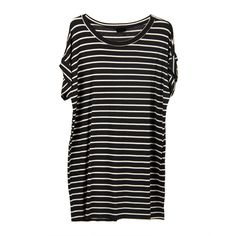 Cuffed Short Sleeve Tee Shirt Dress Black ($26) ❤ liked on Polyvore featuring dresses, tops, black, shirts, black tee shirt dress, black day dress, tee dress, stretch dress and night out dresses