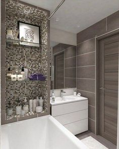 Small Home design plan with 4 Bedrooms - Home Ideas Bathroom Design Luxury, Bathroom Design Small, Bathroom Layout, Bathroom Ideas, Bathroom Cabinets, Bath Design, Tile Design, Bad Inspiration, Bathroom Inspiration