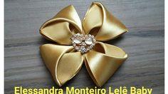 DIY:FLOR DE CETIM!!|ELESSANDRA MONTEIRO LELÊ BABY V:51 - YouTube