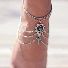4 Ethnic Style Hollow Out Multi-Layered Anklet For Women Ankle Jewelry e87284b626c8