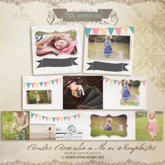 Amber 3x3 Accordion book templates for photographers. $10.00, via Etsy.