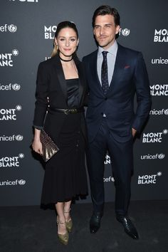 Olivia Palermo (L) and Johannes Huebl attend the Montblanc & UNICEF Gala Dinner at the New York Public Library on April 3, 2017 in New York City.