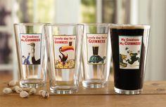 Guinness Beer Pint Glasses - Vintage Guinness Pint Glasses -- Orvis on Orvis.com!  I want these!!