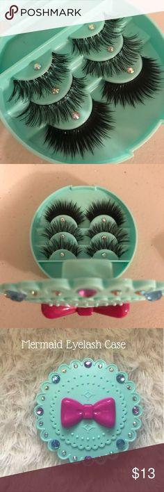 a1e86c829b9 Mermaid eyelash case + Eyelashes All brand new include ✨3 kinds of Wispy  eyelashes ✨