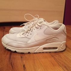 White Nike Air Max! (Women's) EXCELLENT CONDITION! Worn only ONCE! No stains, no scuffs! Interior is hot pink as shown in pictures. No trades Nike Shoes Sneakers