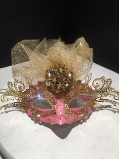 Excited to share this item from my shop: Pink Masks- Womens Masquerade mask Masquerade Party Outfit, Couples Masquerade Masks, Gold Masquerade Mask, Sweet 16 Masquerade, Masquerade Wedding, Masquerade Costumes, Dark Fantasy Art, Mascarade Mask, Flower Bouquet Wedding