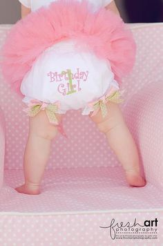 Birthday girl embroidered diaper cover with matching little bow detail on number and double bows at legs. Choice of color theme!  Size 1 (0-6