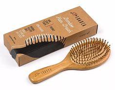 SHARCA Premium Wooden Bamboo Hair Brush with Ball Tipped Bristles from Natural Wood. Organic, Biodegradable, No plastic Long Hair Tips, Grow Long Hair, Grow Hair, Henna Designs, Wooden Hair Brush, Colored Hair Tips, Henna Hair, Voluminous Hair, Natural Hair Styles