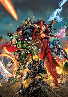 Uncanny Avengers by Scott Campbell  Auction your comics on http://www.comicbazaar.co.uk